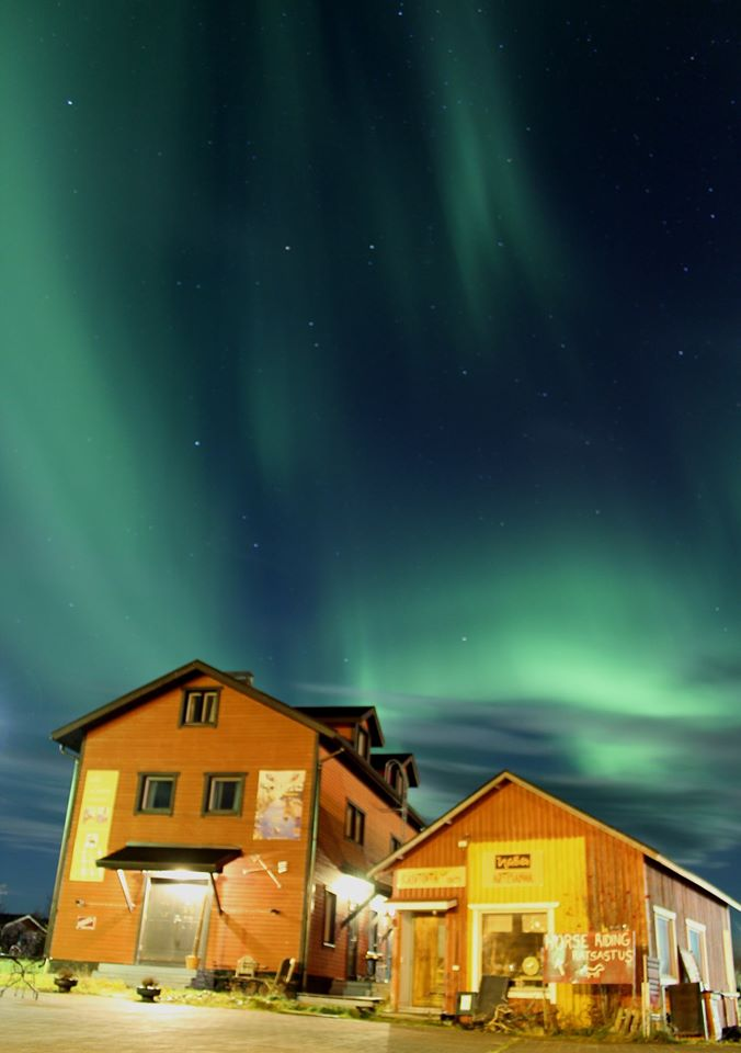 Northern Lights over Villa Lanca